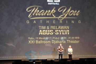 Thank You Gathering Tim dan Relawan, Agus-Sylvi: Kami Sudah Move On